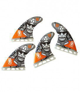 Set 4 Aletas SUP Quad 110 Orange