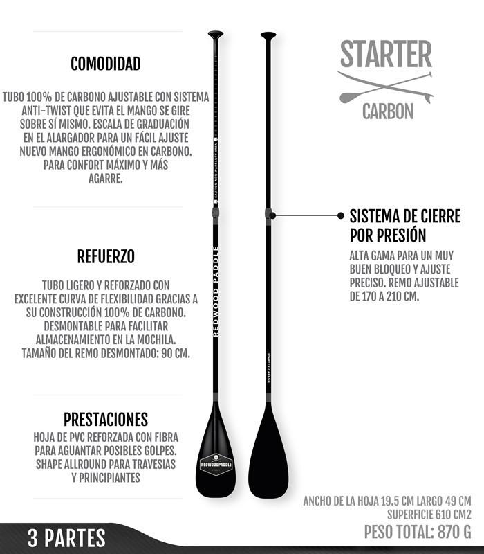 Starter Ajustable 3 Partes Carbono