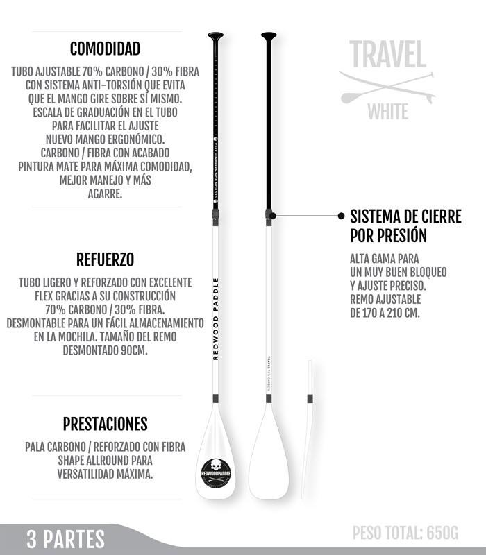Travel Ajustable 3 Partes White