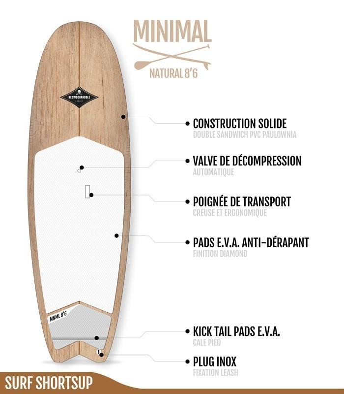 Minimal Natural Wood 8'6