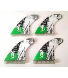 Set 4 Aletas SUP Quad 110 Green